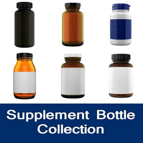 supplement 3d obj supplement bottle