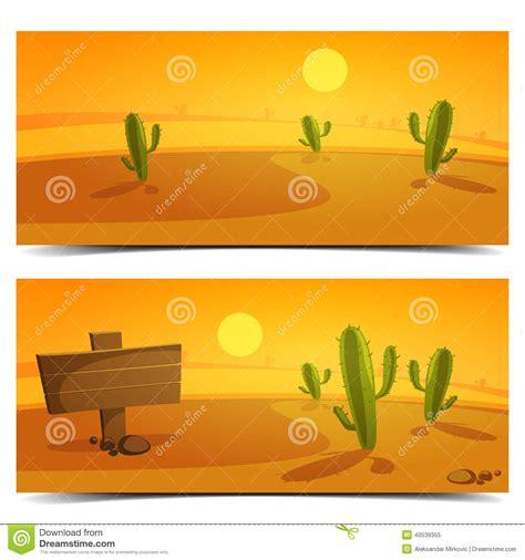 design banner landscape desert banners stock vector illustration of stone