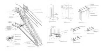 technische zeichnung treppe soho blackened steel stairs caliper studio