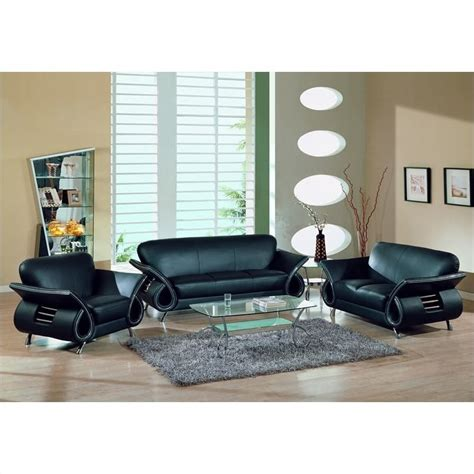 living room furniture usa global furniture usa charles 3 piece leather sofa set in