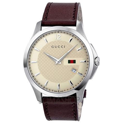 gucci g timeless ivory brown leather s