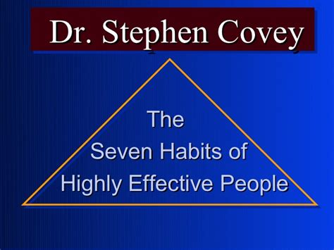 Habits Ppt 7 Habits Of Highly Effective By Stephen R Covey