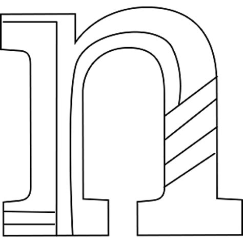 Lowercase N Coloring Page by Lowercase N Coloring Page Png