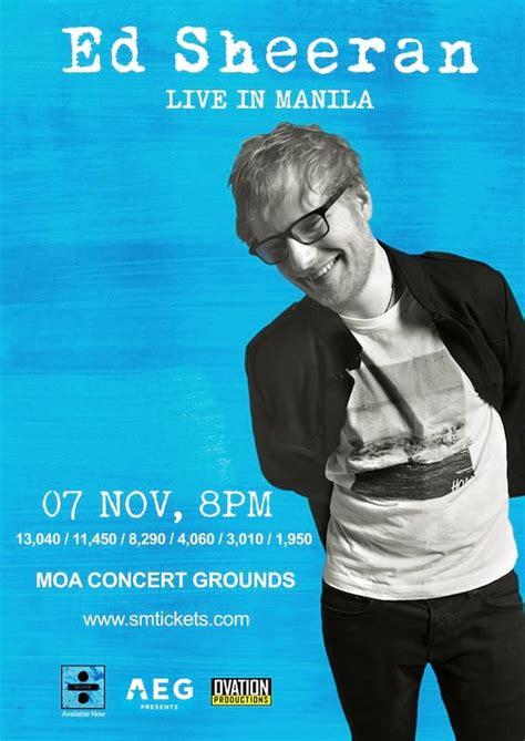 Ed Sheeran Live In Manila Clickthecity Events   ed sheeran live in manila clickthecity events