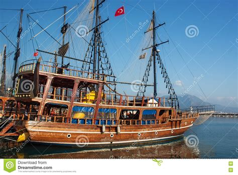 small boat on a pirate ship small wooden pirate sailing ship stock photo image of