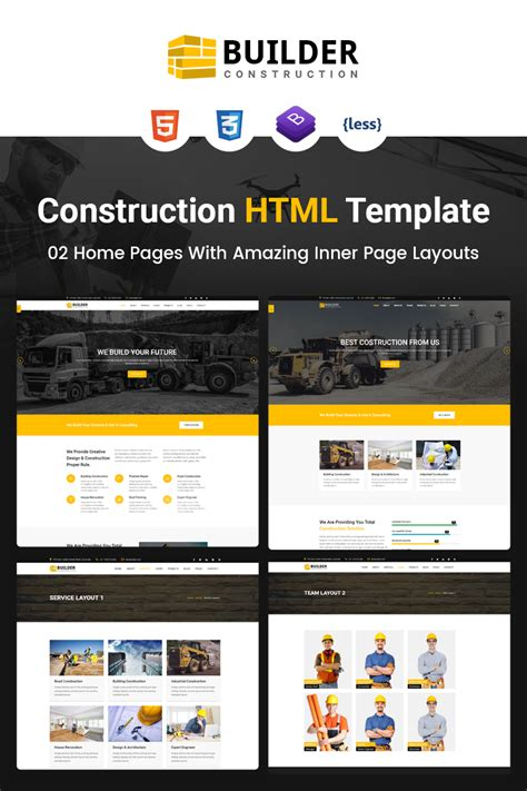 Builder Construction Company Html Website Template 67461 Best Template Based Website Builder