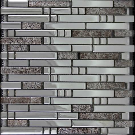 electroplate glass mosaic tile backsplash ssmt137 silver