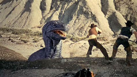 film cowboy vs dinosaurus the valley of gwangi the dinosaur is the father of the