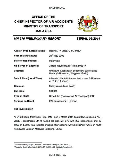 Report Missing Letter Timeline