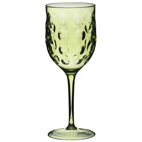 Acrylic Wine Glasses New Kitchencraft Sherbert 4 Pack Picnic Bbq Garden Green