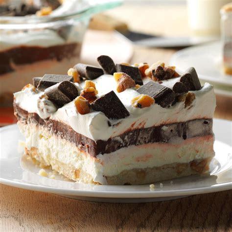 easy four layer chocolate dessert recipe taste of home