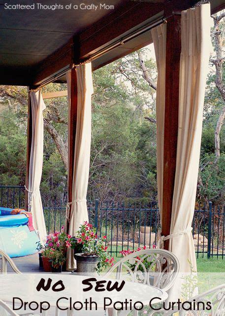 patio curtains  pinterest outdoor curtains drop cloth curtains  porch curtains