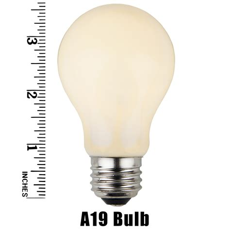 e26 party and sign bulbs a19 opaque white 25 watt