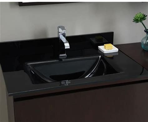 Black Glass Countertops by 1000 Images About Vanity Tops On Black
