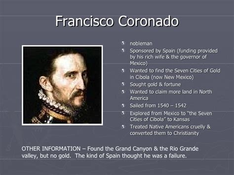 Francisco Coronado Timeline Picture And Images