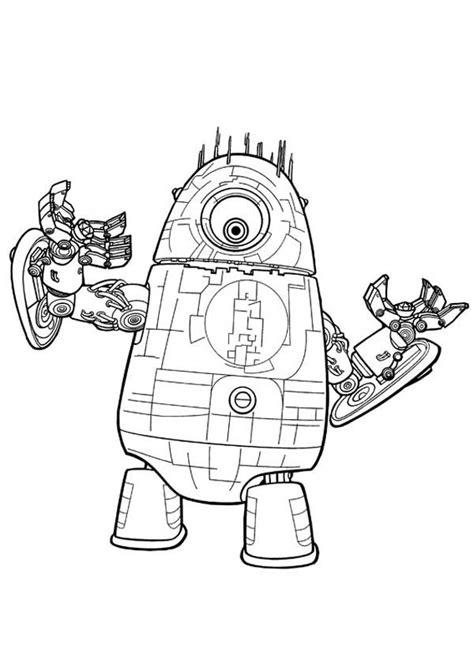monsters vs aliens colouring pages