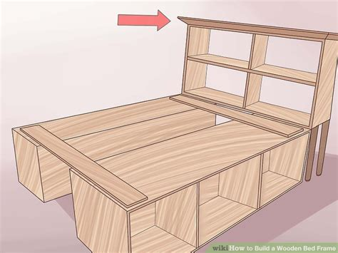 How To Make A Wooden Bed Frame With Drawers 3 Ways To Build A Wooden Bed Frame Wikihow