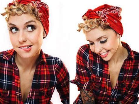 how to wear a bandana with short hair 1000 ideas about rockabilly short hair on pinterest