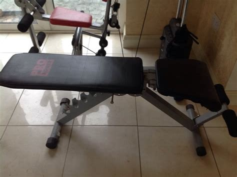 pro power bench pro power compact home gym and weights bench for sale in