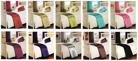 bed runner passion quilted bed runner satin silk look one size decorative assorted colours ebay