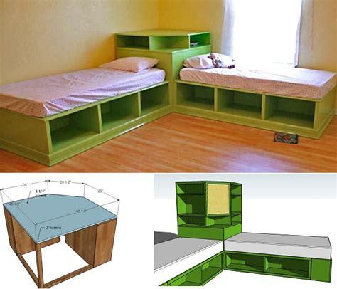 bed design with storage diy twin corner beds with storage home design garden