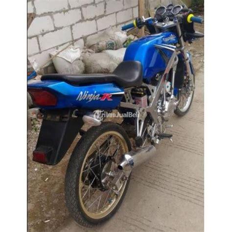 kawasaki r tahun 2013 warna biru modifikasi harian siap gas karawang dijual tribun