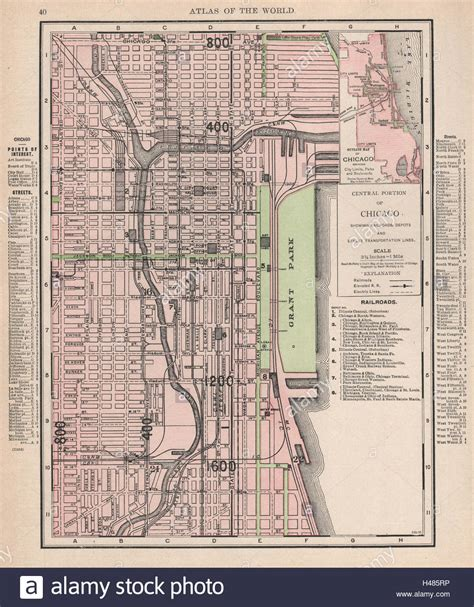100s chicago map 100 map of downtown chicago shifting grounds
