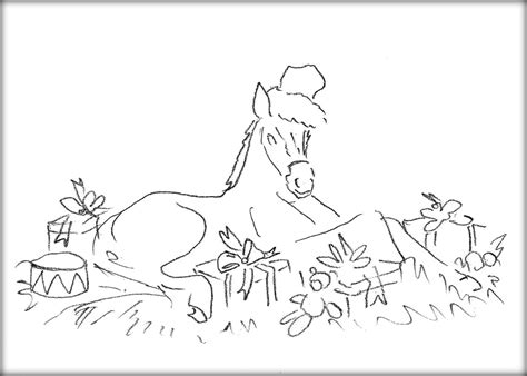coloring pages christmas horse coloring printable images gallery category page 17