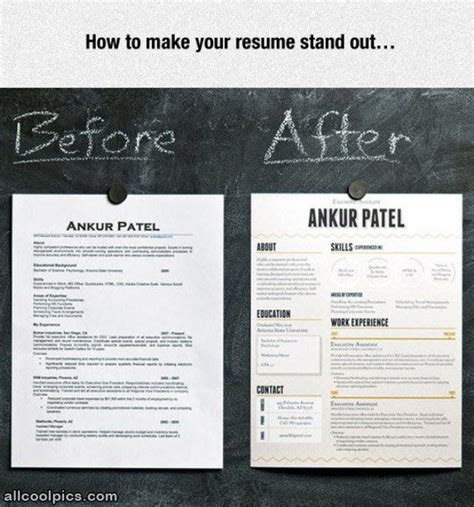 how to make a resume stand out make your resume stand out cool pictures