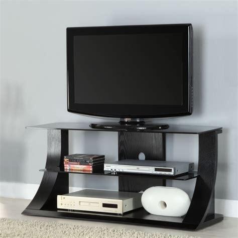 Lcd Tv Shelf by Black Ash Wood Two Shelf Lcd Plasma Tv Stand 32 42 Inch