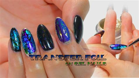 Nail Foil For Nail Ghl06 how to transfer foil on gel nails