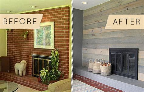 Before & After: A Kitschy Midcentury Fireplace Goes From