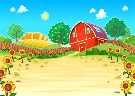 granero vector una granja con un granero descargar vectores gratis