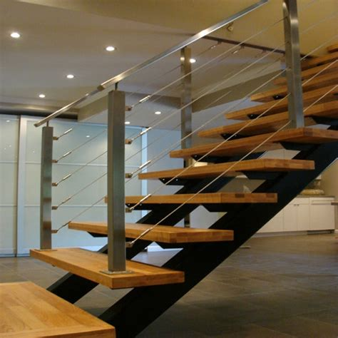 Metal Stair Rails And Banisters Shenzhen Stainless Steel Staircase Cable Railing Products