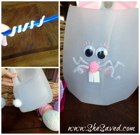 milk jug crafts for easter bunny milk jug craft shesaved 174