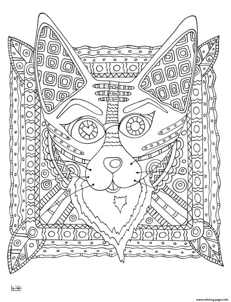 tribal pattern coloring pages fox with tribal pattern adults coloring pages printable