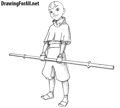 How To Draw Avatar Last Airbender how to draw avatar aang drawingforall net