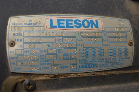 leeson motors wiring diagrams efcaviation