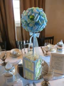 blue and green baby shower ideas centerpieces