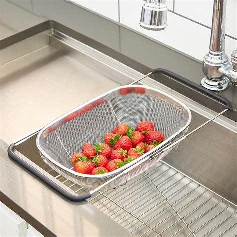 stainless steel sink basket polder stainless steel mesh sink basket the container store