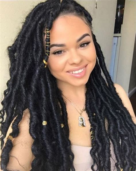 Faux Cut Hairstyle by Faux Locs Hairstyles Crochet Hairstyles