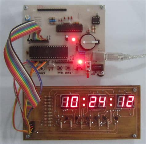 membuat jam digital seven segment jam digital dengan mikrokontroler atmega inkubator