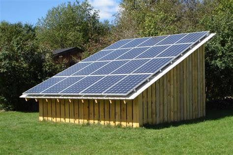 Solar Panel For Shed by Solar Pv Wood Shed Canton Ny Northern Lights Energy