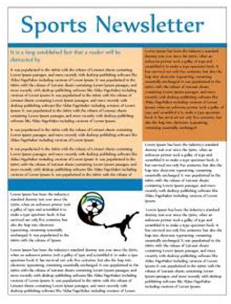 Free Printable Newsletters Newsletter Templates Email Newsletter Templates Sle Football Email Template