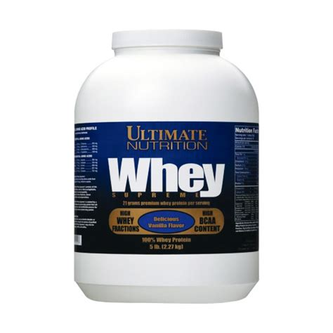 supreme whey protein whey supreme 2275 ultimate nutrition