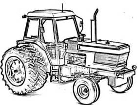 Ford Tractor Coloring Pages Sketch Page sketch template