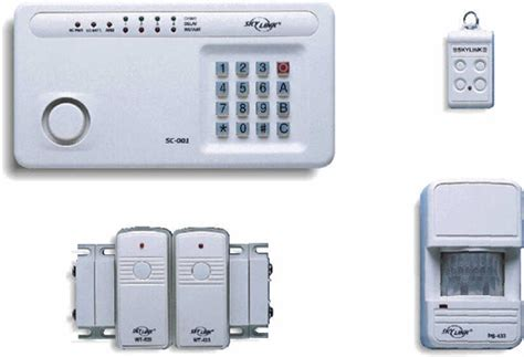 skylink sc 100 wireless home security system deluxe kit