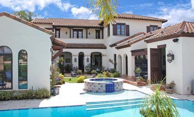 spanish colonial homes central courtyard pool pool spanish colonial with central courtyard 82009ka
