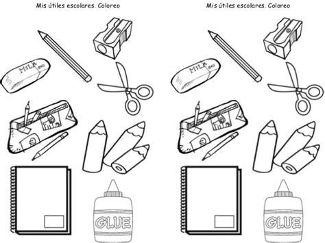 imagenes de utiles escolares en caricatura para colorear utiles escolares