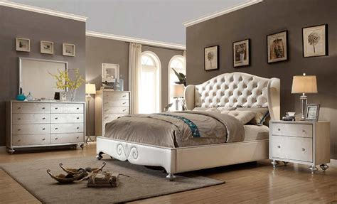 diamond tufted pearl bed mf classic bedroom